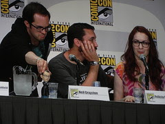 Wil Wheaton, Felicia Day and Neil Grayston