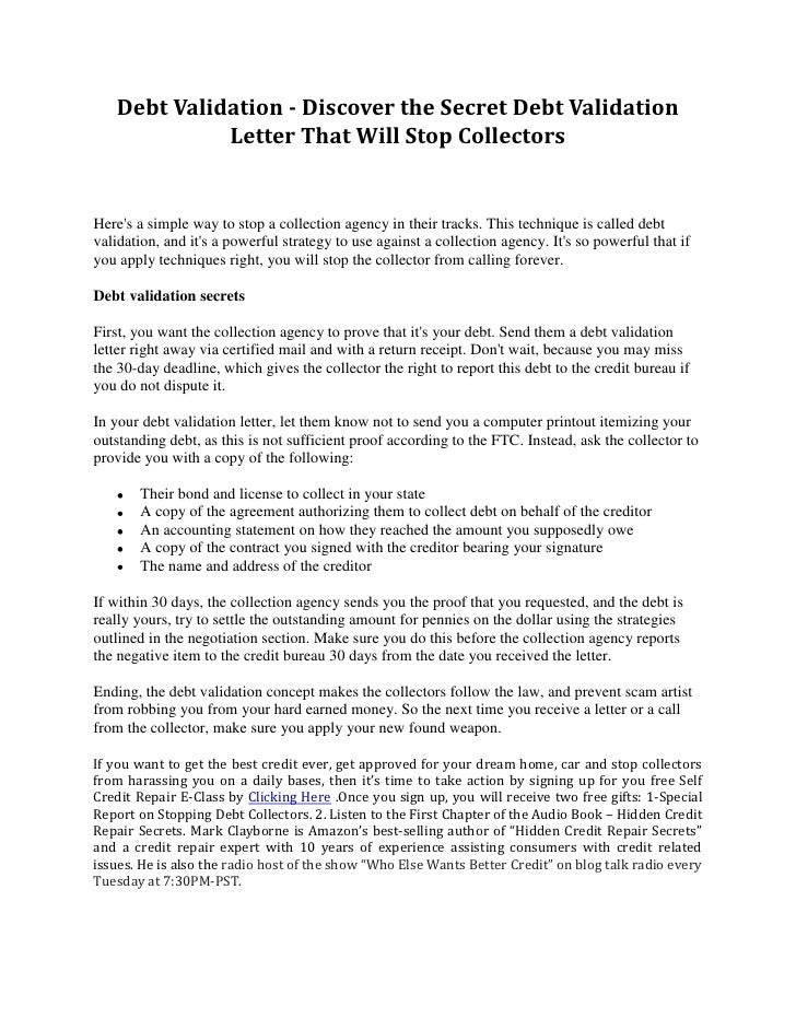Validation Debt Letter Request Template on credit card request letter, budget request letter, debt validation follow up letter,