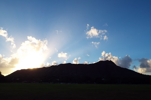 Sunrise over Diamond Head