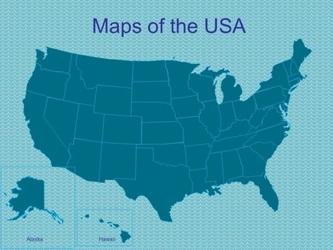 PowerPoint Maps of the USA