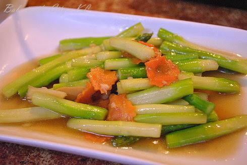 Rosette Cafe - Stir Fried Asparagus (RM12)