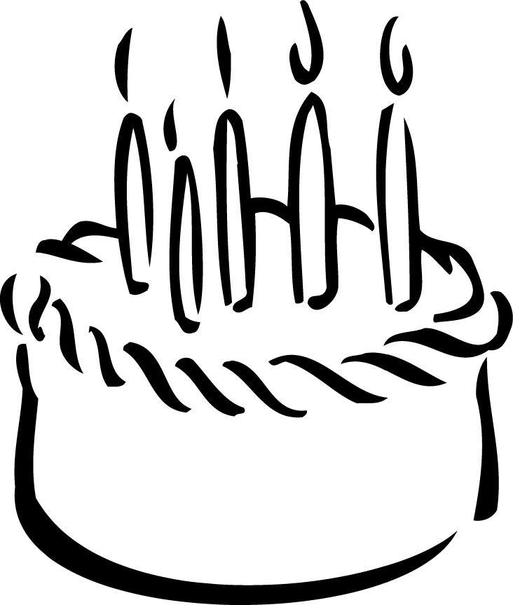 Birthday Cake Cartoon Black And White Wiki Cakes