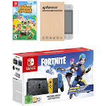 Nintendo Switch Fortnite Wildcat Edition and Game Bundle: Limited Console Set, Pre-Installed Fortnite, Epic Wildcat Outfits, 2000 V-Bucks, Animal Cro