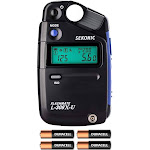 Sekonic L-308X-U Flashmate Light Meter w/ 4 AA Batteries and Fibertique Cloth