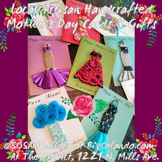 @SOSArtGallery Local Artisan-Made Retail Store = #OrlandoMade With Love; Online Card and Gift Shop