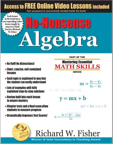 Review of Math Essentials' No-Nonsense Algebra