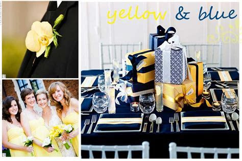 The Meaning of Yellow and Blue Wedding Colors