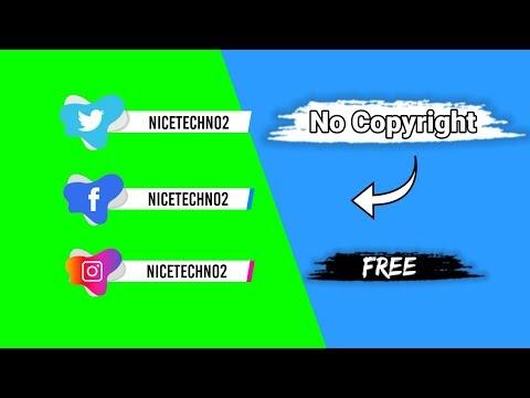 Social Media icons  Green Screen   No Copyright   Nice Techno