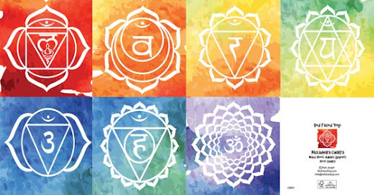 Pack Of 7 Chakra Greeting Cards Blank/Birthday by RedFacedYogi