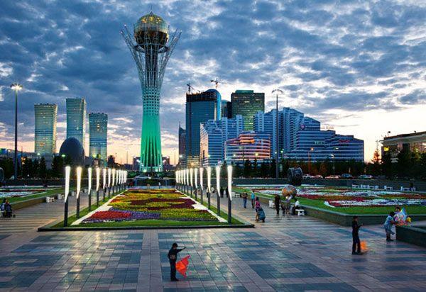 An image of Baiterek Tower, located in Astana...the capital of Kazakhstan.