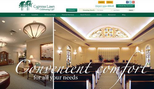 Custom Funeral Home Websites | MKJ Marketing |