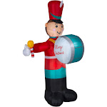 8' Red and Blue Drumming Soldier Outdoor Inflatable Christmas Decor by Christmas Central
