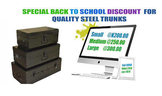 BACK TO SCHOOL SPECIAL OFFER FOR STEEL TRUNKS