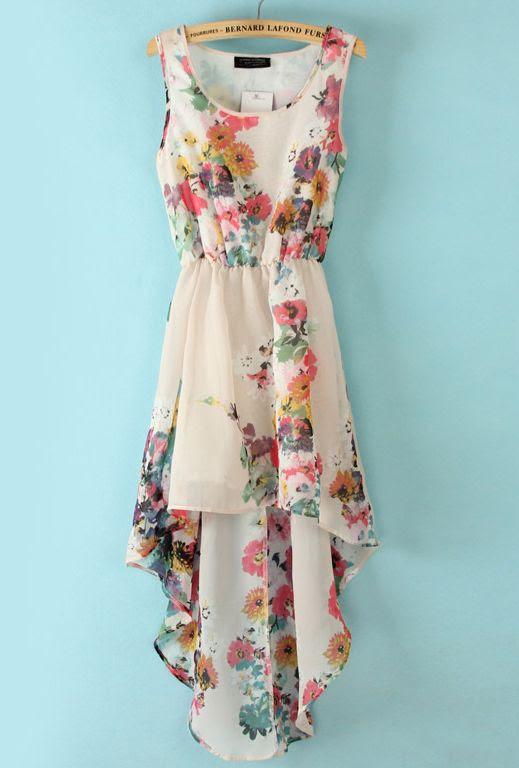Floral hi low dress. Just darling