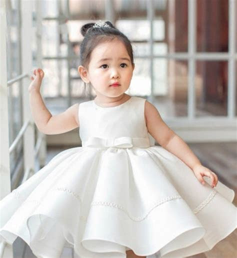 Big Bow Flower Girl Dress   1 children clothes   Baby girl