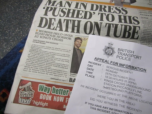 Police appeal for information on Tube Death