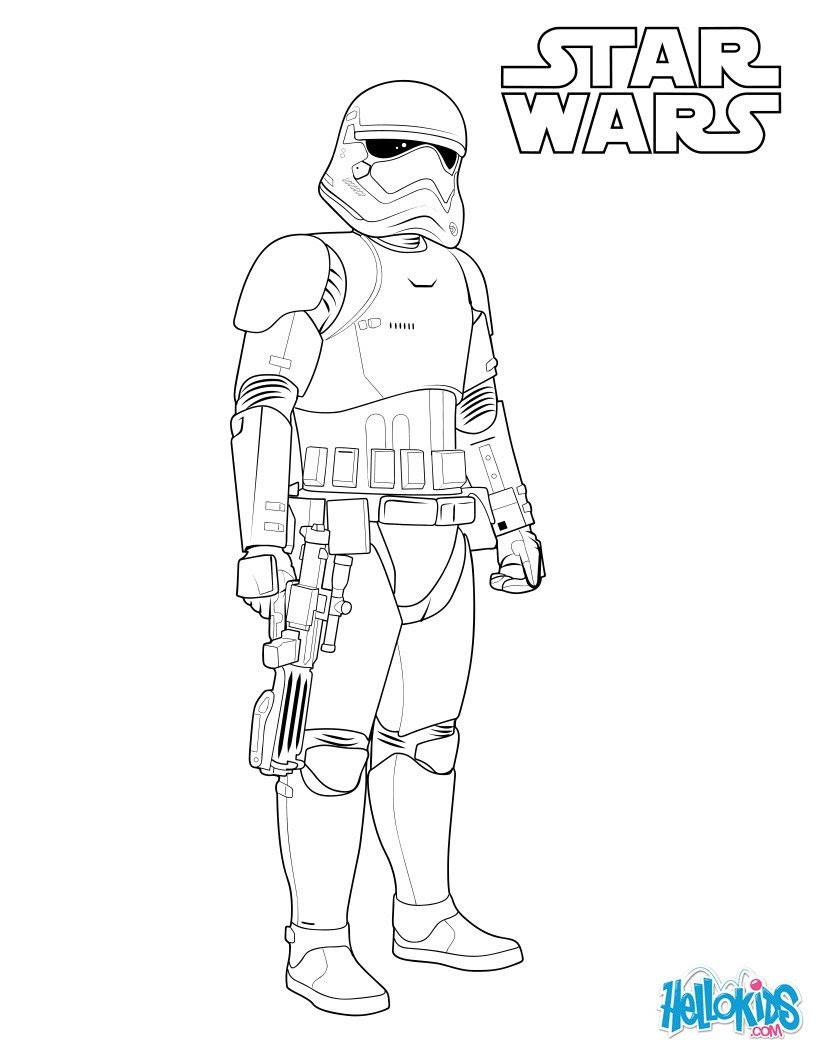 First Order Stormtrooper Coloring Pages Hellokidscom