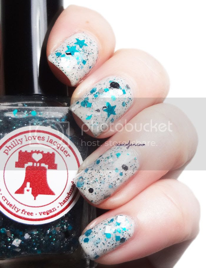 xoxoJen's swatch of Philly Loves Lacquer Bird Gang duo