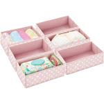 mDesign Kids Fabric Closet / Dresser Drawer Storage Organizer Pink/White   Pink/White   mDesign Home Decor
