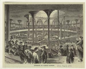 Interier of Castle Garden. Digital ID: 800793. New York Public Library