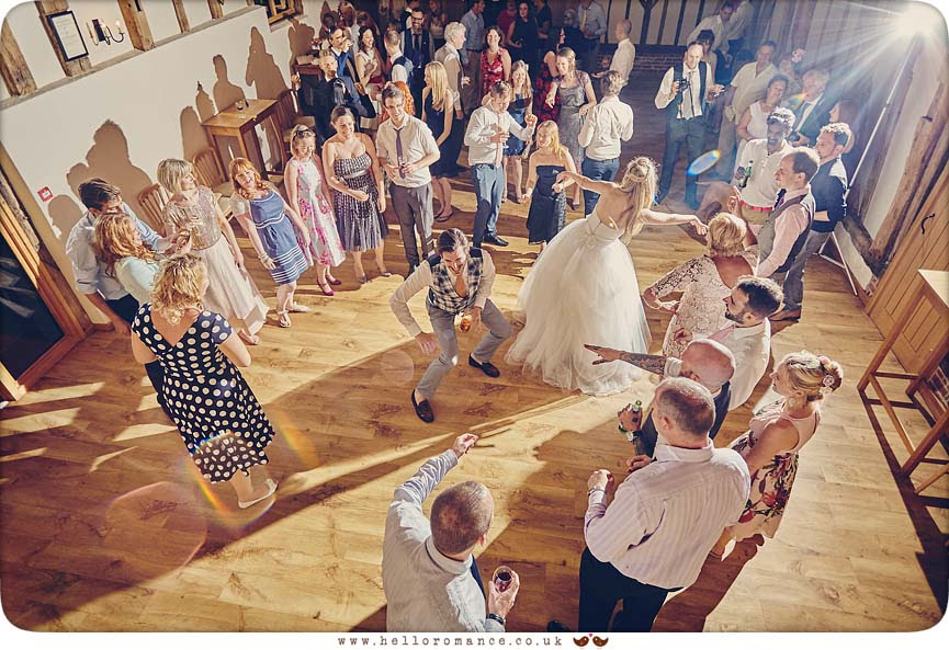 Dancing at Bruisyard Hall wedding, 2015 - www.helloromance.co.uk