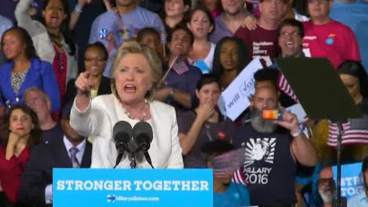 Watch Hillary slam heckler: 'I'm sick & tired of .. behavior of people who support Donald Trump'