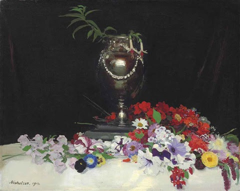 Urn And Flowers On A Table By William Nicholson On Artnet