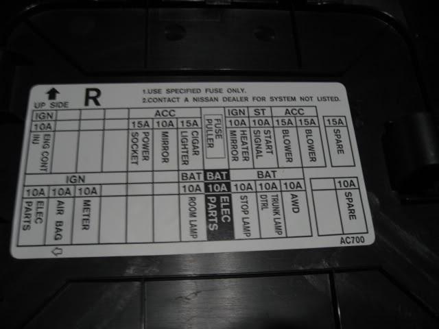2005 Infiniti G35 Fuse Box Diagram