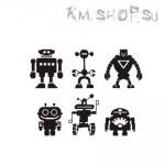 Штамп Набор Роботы № 02