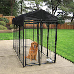 Lucky Dog Uptown Welded Wire Box Kennel 6'H x 8'L x 4'W