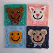 Funny Face Square pattern by Carola Wijma