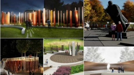 Finalists unveil their plans for victims of communism memorial