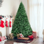 Best Choice Products 6ft Premium Hinged Artificial Christmas Pine Tree w/ Solid Metal Stand, 1,000 Tips - Green