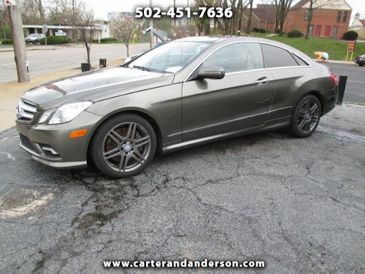 Used 2010 Mercedes-Benz E-Class for Sale in Louisville KY 40204 Carter & Anderson Motorsports