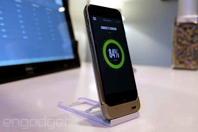 Energous WattUp wireless charging an iPhone 6