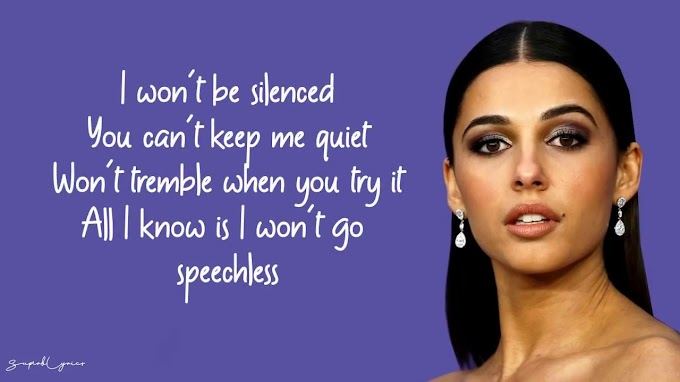 Naomi Scott - Speechless (Lyrics) - Naomi Scott Lyrics