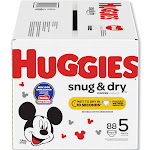 Huggies Diapers, Snug & Dry, Disney, Baby, Size 5 (Over 25 lb) - 88 diapers