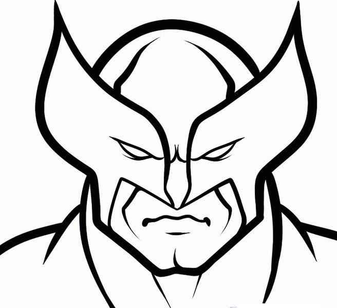 Dibujo Para Colorear Wolverine 1