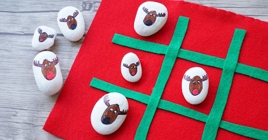 DIY Rudolph vs Reindeer Tic Tac Toe Game to Make and Play