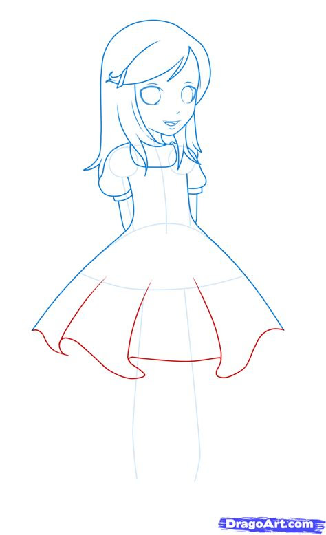 draw  girl   dress step  step anime people