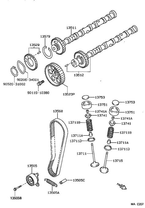 Toyota Corolla Engine Timing Camshaft Sprocket. Pulley