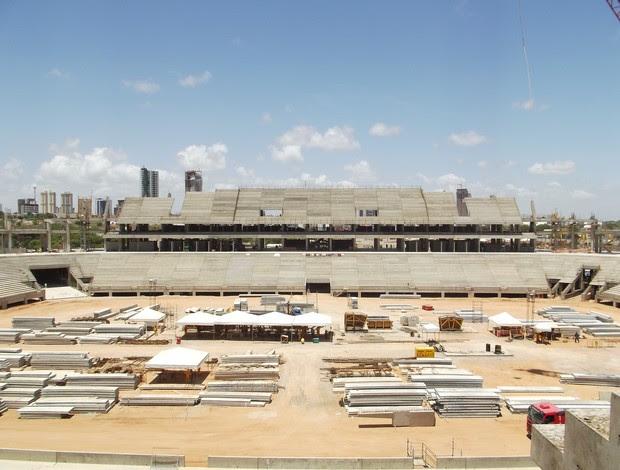 Setor Oeste de arquibancadas da Arena das Dunas, em Natal (Foto: Jocaff Souza)
