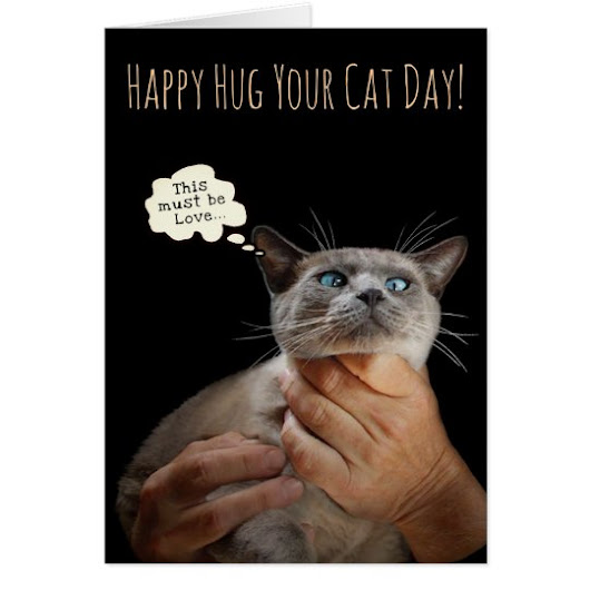 Happy Hug Your Cat Day (customizable) Card