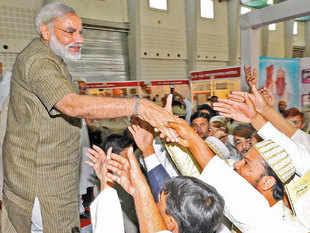 Gujarat CM Narendra Modi with Bohra Muslim community in Ahmedabad