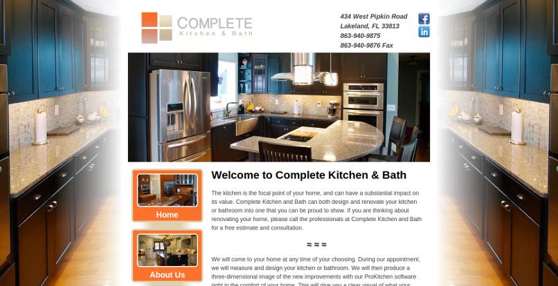 Project Complete Kitchen And Bath Web Design Lakeland Web