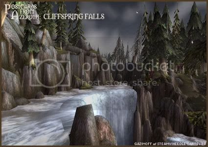 Postcards of Azeroth: Cliffspring Falls, submitted by Gazimoff of Steamwheedle Cartel-EU