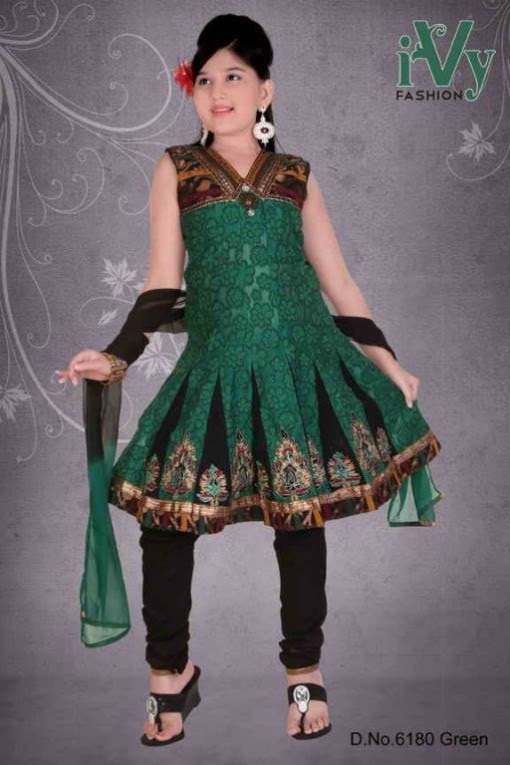 Trade-india-Summer-Anarkali-Beautiful-Cute-Eid-Dresses-2013-For-Kids-Childrens-10