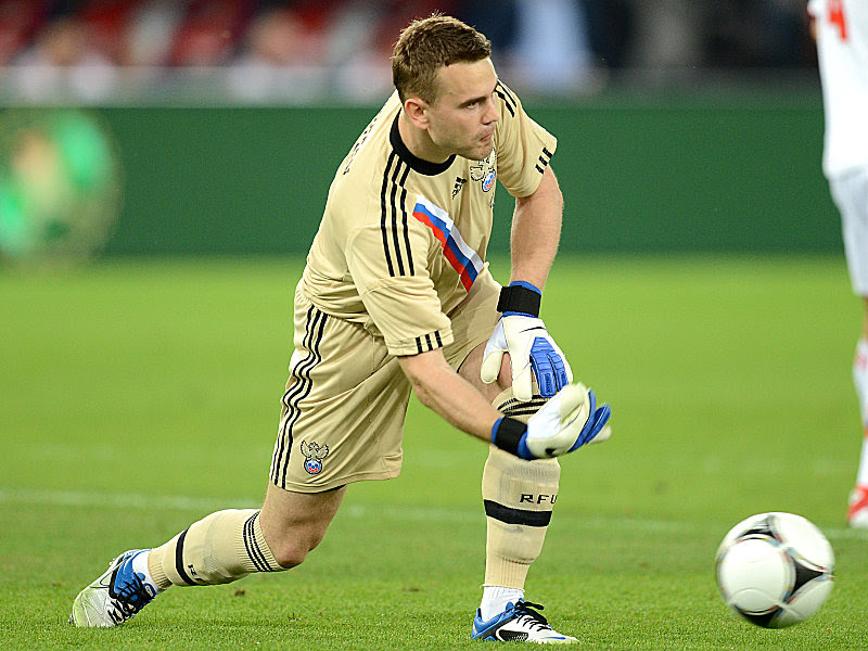 Russian Goalkeeper in a match