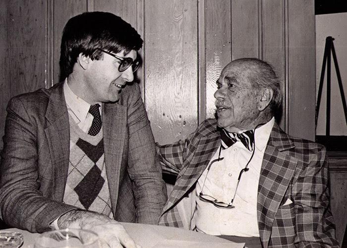McBride with Frank Capra, 1985