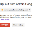 Google Opt Out Tool in Response to AntiTrust Suit | Web Talent Marketing